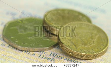 British Pound With Bank Notes