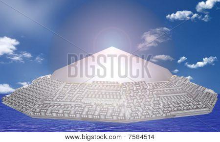 UFO Above The Sea
