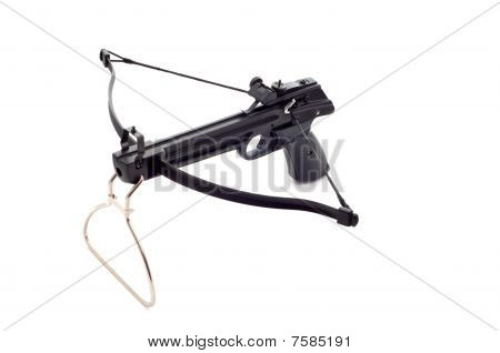 Black armed arbalest isolated on white background