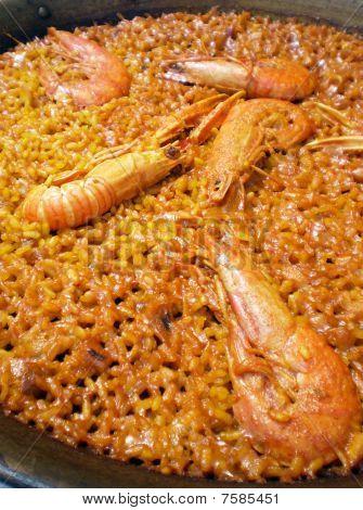 authentic Valencian Shellfish Paella