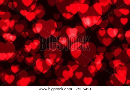 Heart shining bokeh