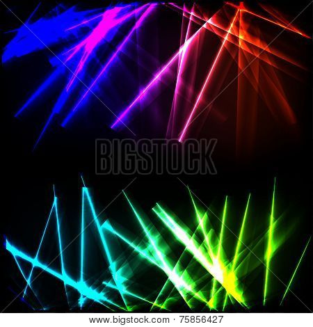 Neon glowing rays