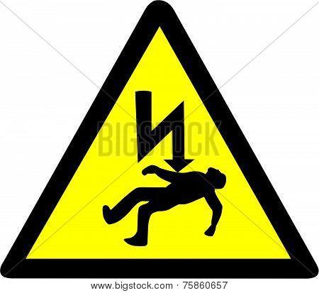 Danger of electrocution Symbol.