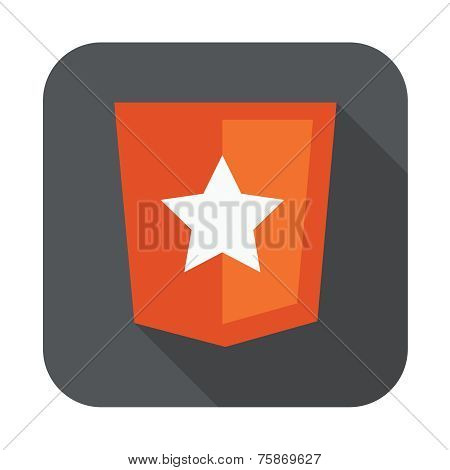 raster round icon of boilerplate html5 template layout