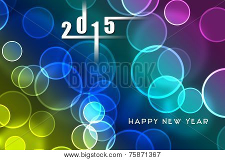 2015 New Year Background, Invitation, Flying Bubbles