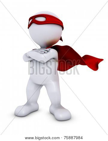 3D Render of Morph Man  super hero