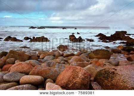 Large Waves At Monterey Beach