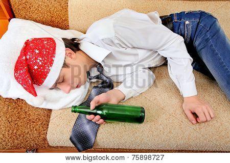 Drunken Teenager Sleeping
