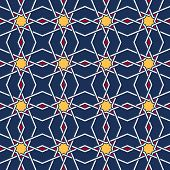 Traditional arabic tangled pattern. Seamless vector background. Plain colors - easy to recolor. poster