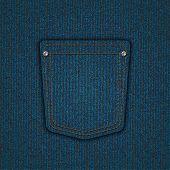 Vector modern denim pocket. Jeans background. Eps10 poster