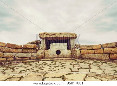 Ancient Lunar Dolmen On Nexis Mountain, Russia