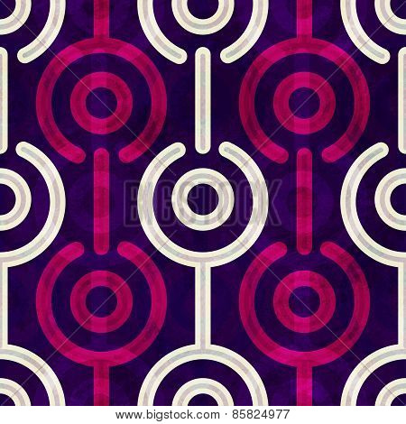 Puple Circle Seamless Pattern