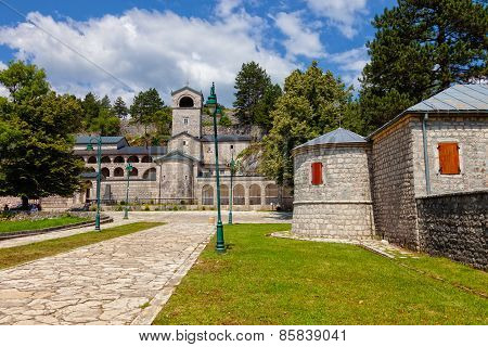 Orthodox Monastery of the Nativity of the Blessed Virgin Mary in Cetinje, Montenegro. poster