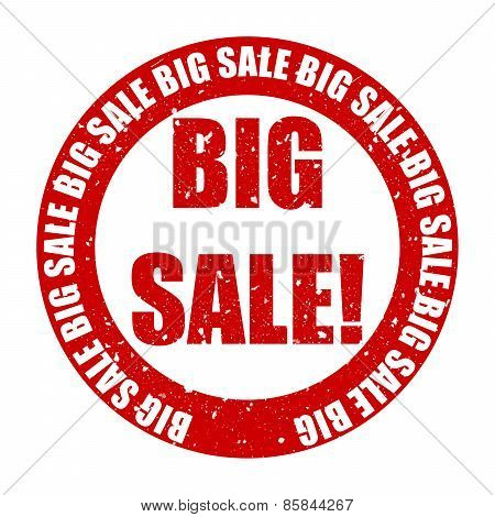 Big Sale Rubber Stamp Text