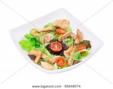 Caesar salad dish close up