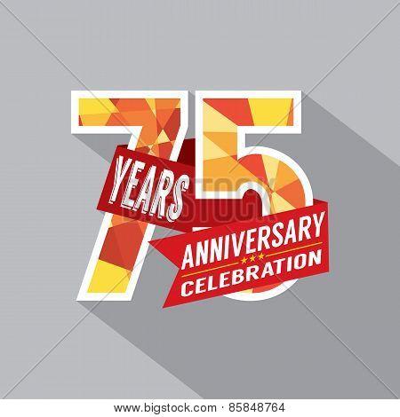 75Th Years Anniversary Celebration Design.