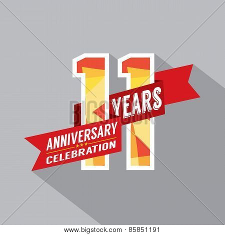 11Th Years Anniversary Celebration Design.