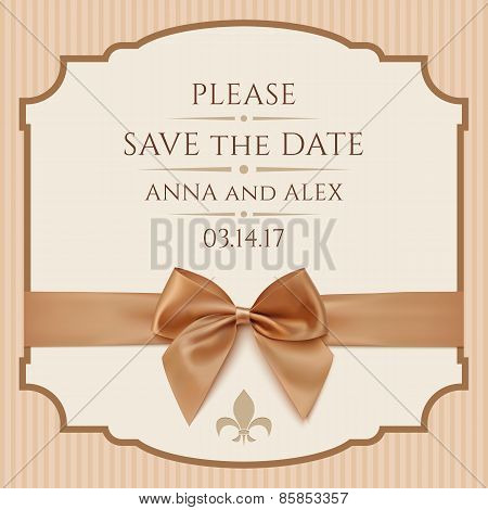 Save The Date, Wedding Invitation Card.