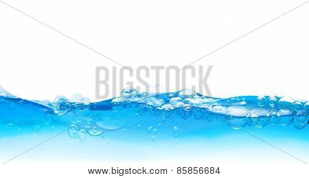 water bubbles surface