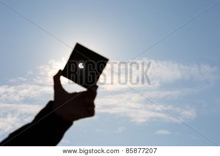 Man Shows Sun Eclipse