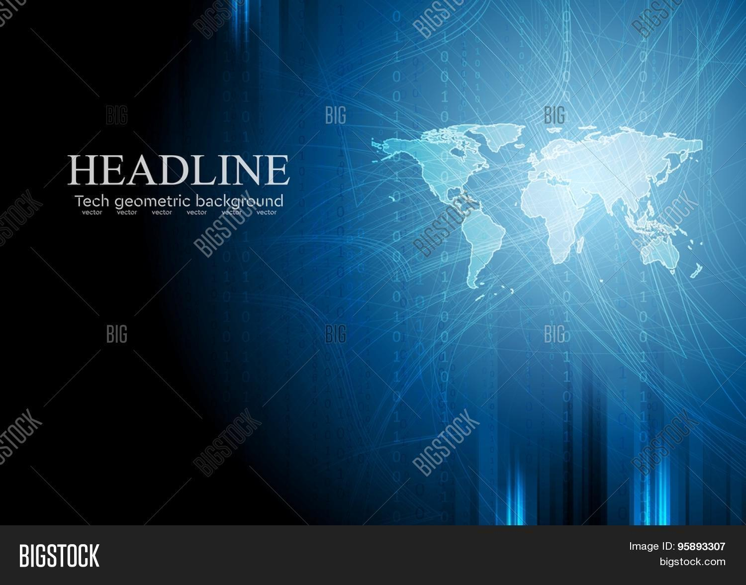 Vector y foto dark blue tech prueba gratis bigstock dark blue tech background with binary system code and world map vector design gumiabroncs Image collections