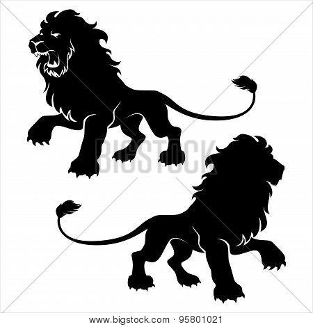 Two Lion Figure Symbols
