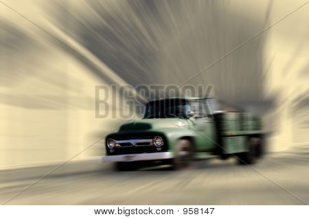 Old Truck Motion Blur