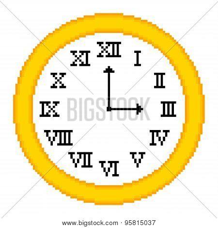 8-bit Pixel-art Roman Numeral Clock
