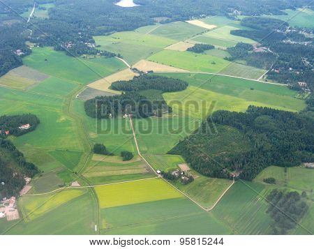 Aerial image of scenery of Finland.