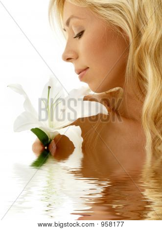 Madonna Lily Girl In Water