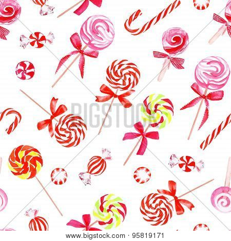 Rainbow Sugarplums Watercolor Vector Print