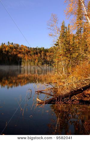 Bearskin Lake In Fall