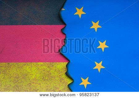 German and European flag concept