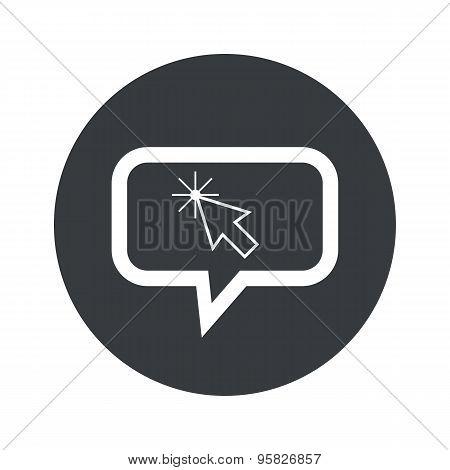Round arrow cursor dialog icon