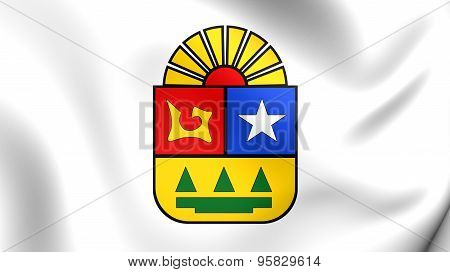 Flag Of Quintana Roo, Mexico.