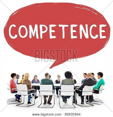 Competence Skill Ability Proficiency Accomplishment Concept poster