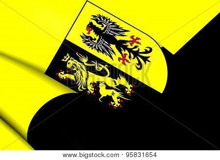 Flag Of Vogtlandkreis, Germany.