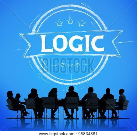 Logic Logical Reasonable Critical Thinking Concept poster