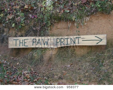 The Paw Print - Wooden Sign