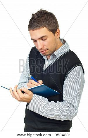 Young Executing Taking Notes