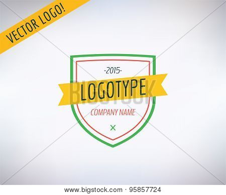 Vector logo icon. Business, bank and lawer symbol. Stocks design elements.