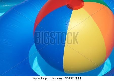 Floating Tire And Beach Ball