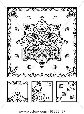 Coloring page and visual puzzle for adults