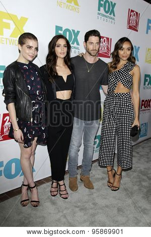 SAN DIEGO - JUL 10:  Elise Eberle, Janet Montgomery, Iddo Goldberg, Ashley Madekwe at the 20th Century Fox Party Comic-Con Party at the Andaz Hotel on July 10, 2015 in San Diego, CA