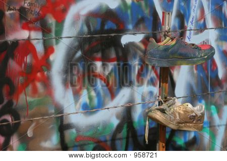 Two Graffiti Shoes 2