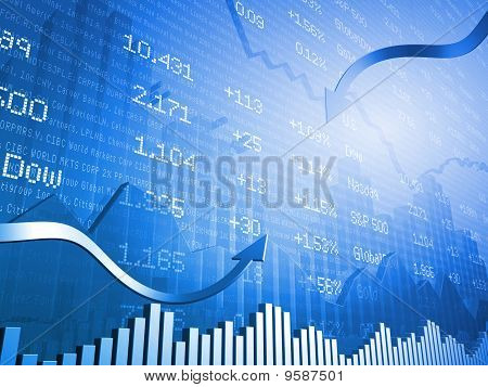 Financial Markets in Vibrant Blue