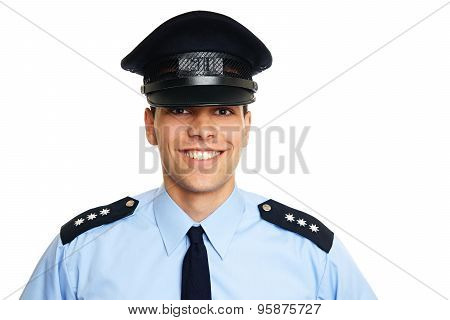 Smiling young policeman
