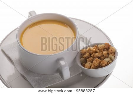 Cream Soup With Crackers
