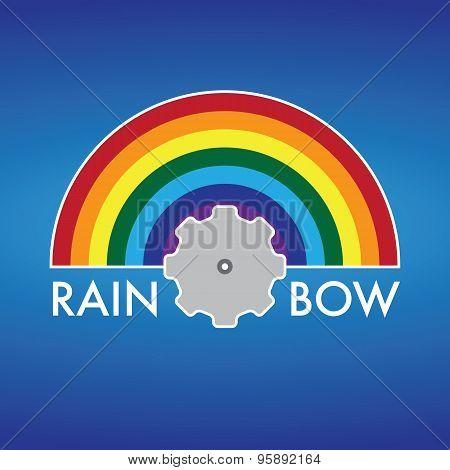 Rainbow Company Vector Logo Design
