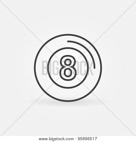 Eight ball icon